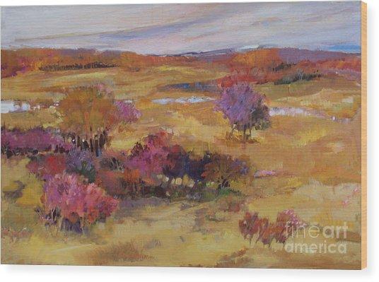 Autumn Land Wood Print