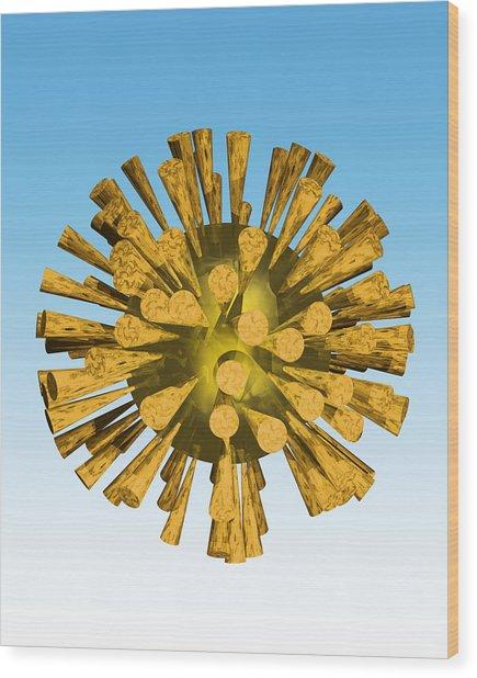 Avian Flu Virus Wood Print by Victor Habbick Visions