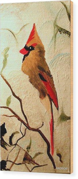 Badbird Wood Print
