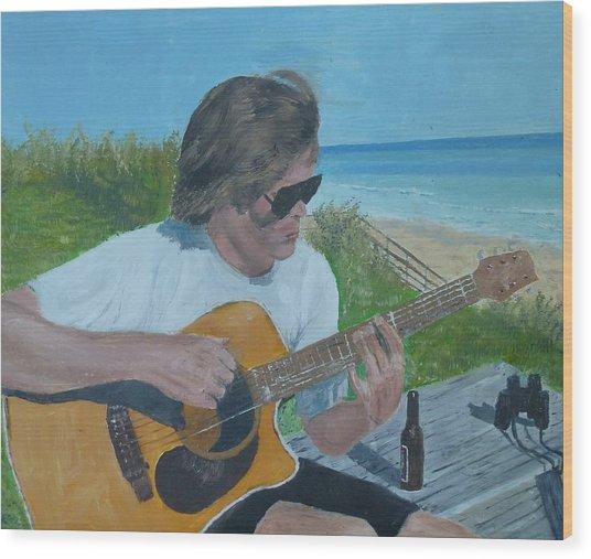 Beach Music Wood Print by John Terry