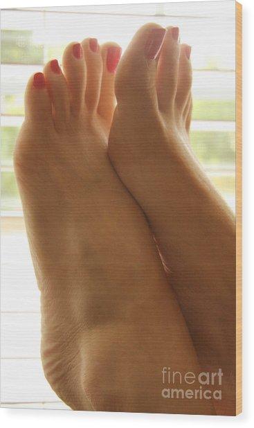 Beautiful Feet Wood Print by Tos Photos