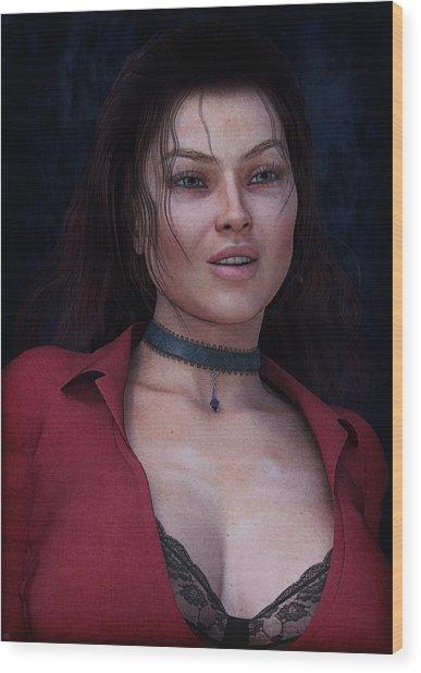 Beautiful Portrait Wood Print
