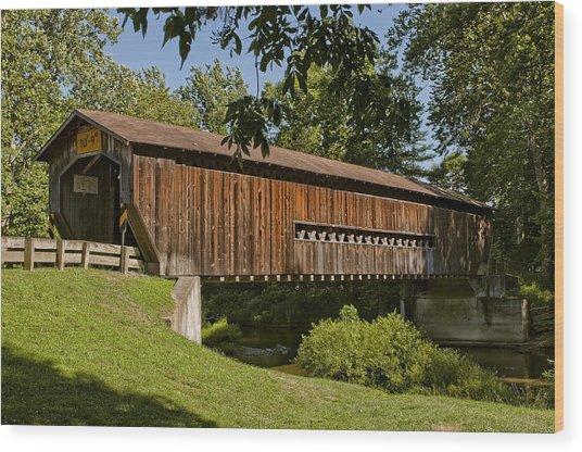 Benetka Road Covered Bridge Wood Print