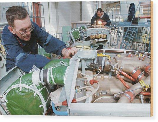 Beriev Be-103 Seaplane Assembly Wood Print by Ria Novosti