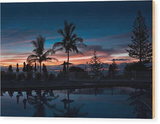 Bermuda Dawn Wood Print by Michael Braxenthaler
