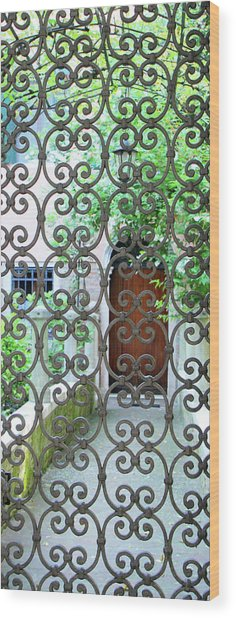 Wood Print featuring the photograph Beyond The Gate by Vicki Hone Smith