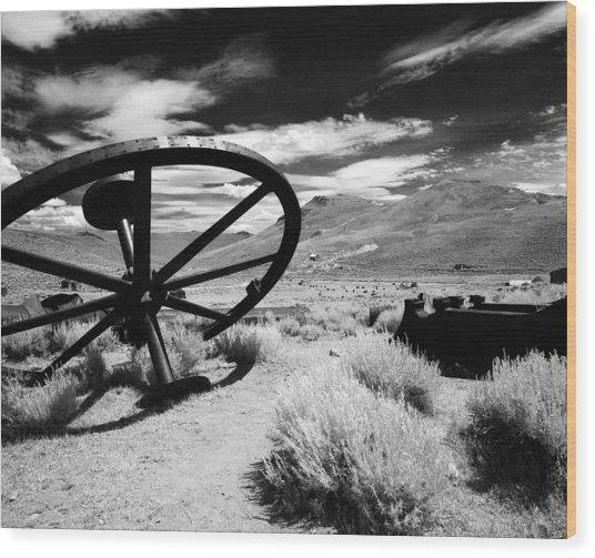Big Wheel Bodie Wood Print