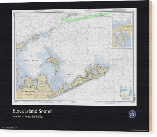 Block Island Sound Wood Print by Adelaide Images