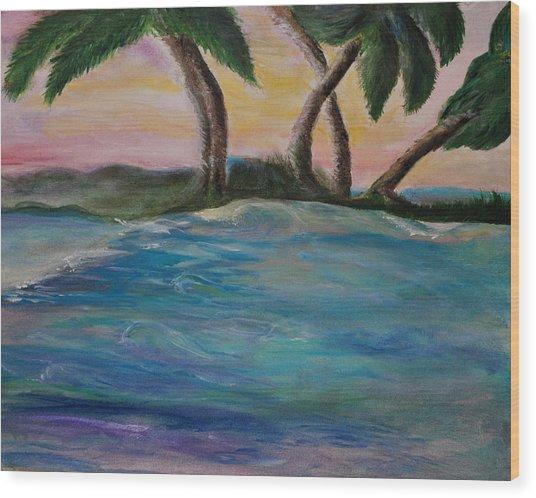 Breathing Sunset Wood Print by Tifanee  Petaja