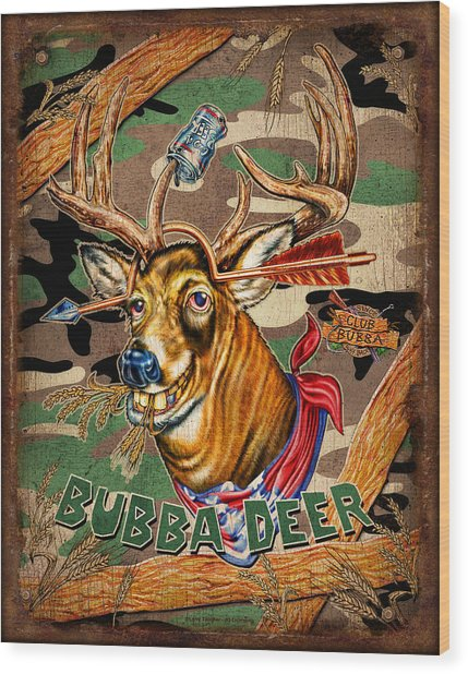 Bubba Deer Wood Print