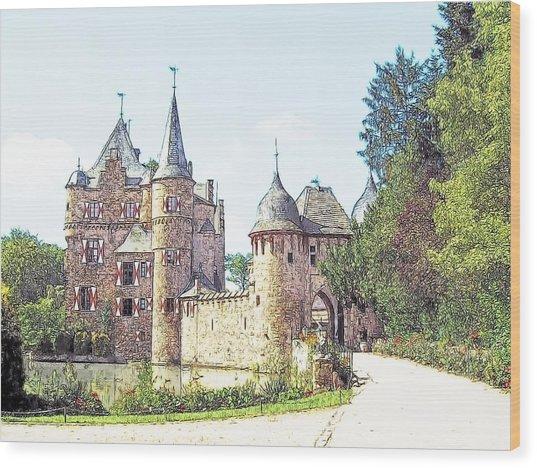 Burg Satsvey Germany Wood Print by Joseph Hendrix