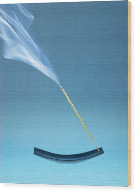 Burning Incense Wood Print by Lawrence Lawry