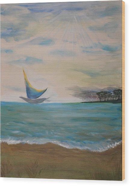Butterfly Sails Wood Print by Tifanee  Petaja