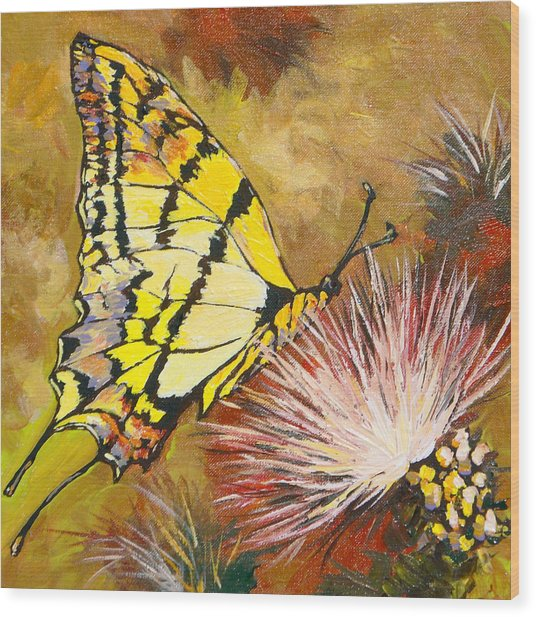 Butterfly Wood Print by Sandy Tracey
