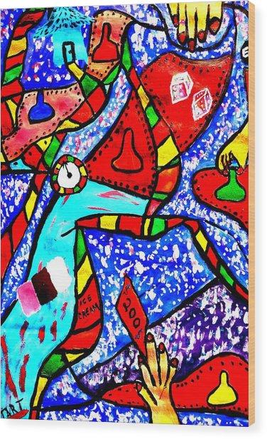 Candyland Wood Print by Eliezer Sobel