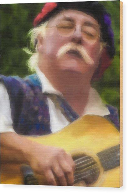 Celtic Folk Singer Wood Print by Jill Balsam