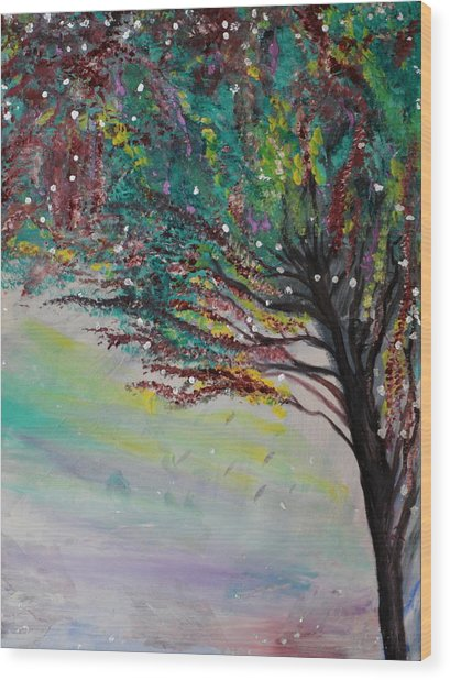 Change Of Falls' Sparkle Wood Print by Tifanee  Petaja