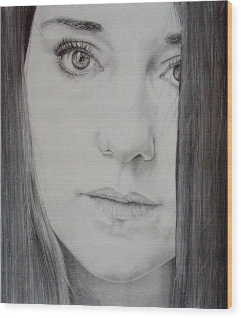 Charlotte Wood Print by Monique Geurts