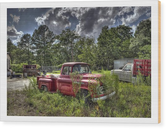 Chevrolet 3200 Wood Print by Alice Link