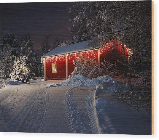 Christmas House  Wood Print by Roman Rodionov