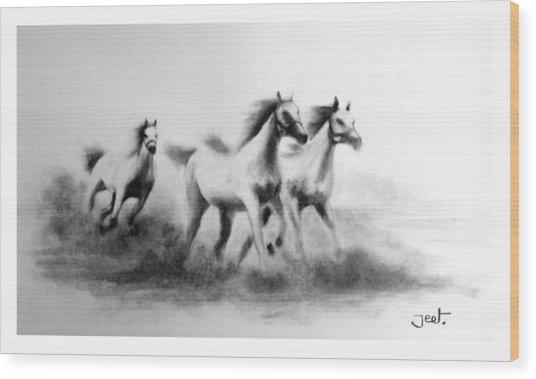 Cloudrunners Wood Print by Arijeet Chanda