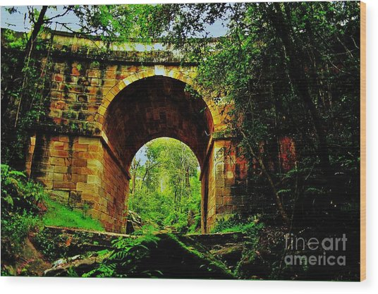Colonial Era Bridge Wood Print