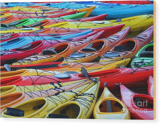 Color My World Wood Print