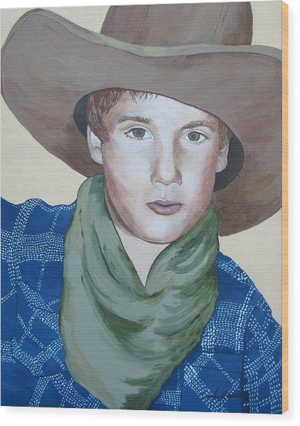 Cowboys Wood Print by Jennifer  Donald
