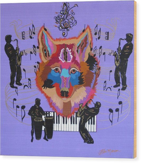 Coyote Harmony Wood Print