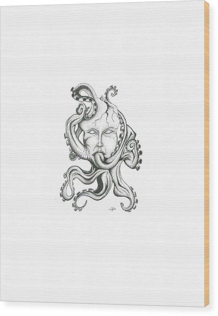 Creepy Curiosity Vi Wood Print by Jeff Gould