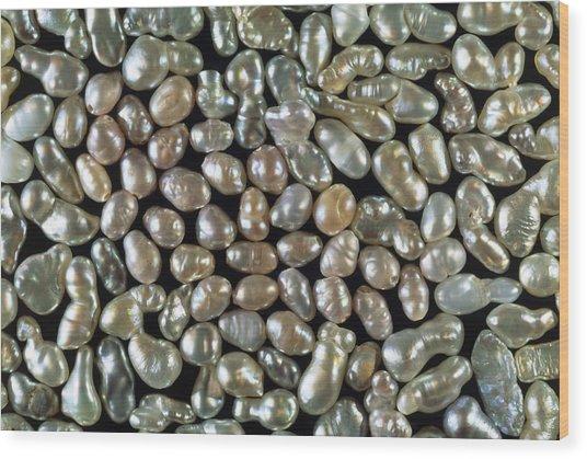 Cultured Freshwater Pearls Wood Print