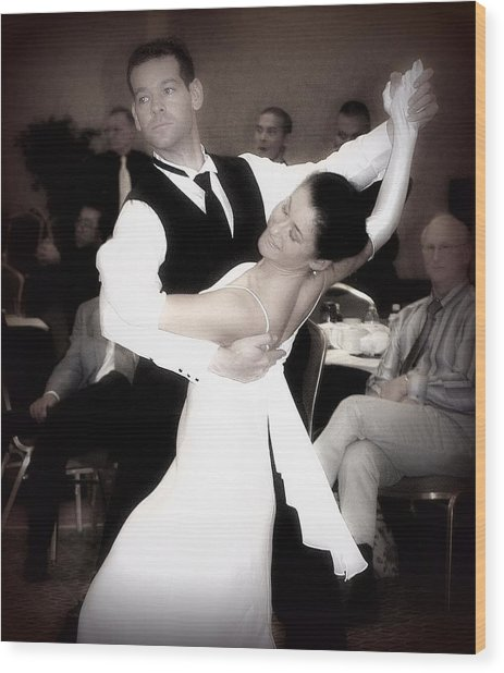 Dance With Me Wood Print by Lori Seaman