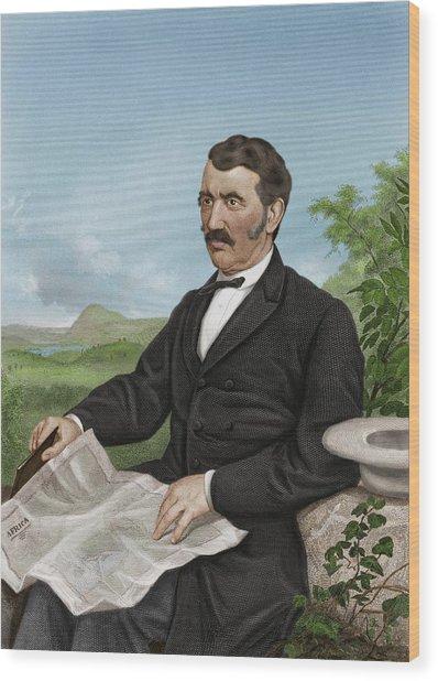 David Livingstone, Scottish Explorer Wood Print by Maria Platt-evans