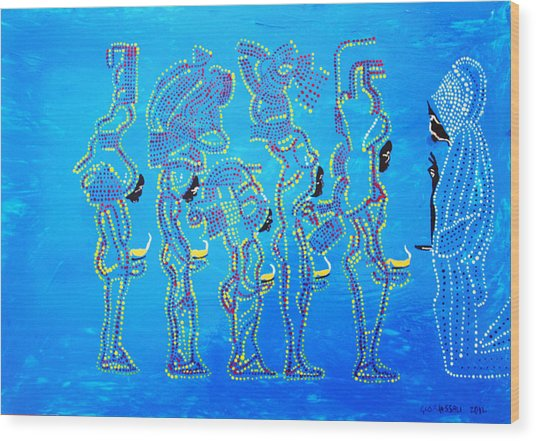 Dinka Wise Virgins  Wood Print