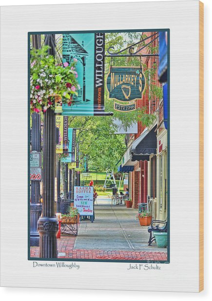 Downtown Willoughby Wood Print