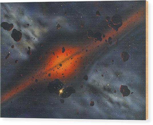Early Solar System, Artwork Wood Print by Richard Bizley