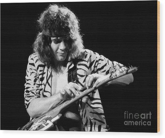Eddie Van Halen 1984 Wood Print