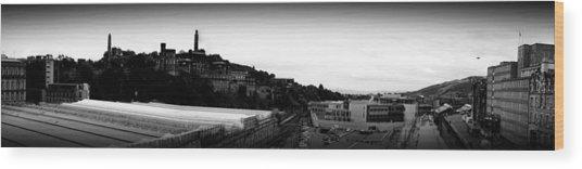 Edinburgh Station Panorama Wood Print