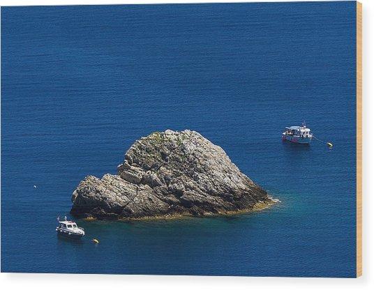 Elba Island - One Island Two Boats - Ph Enrico Pelos Wood Print