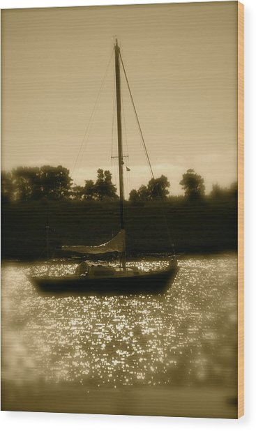 Evening Sail Wood Print by Jez C Self