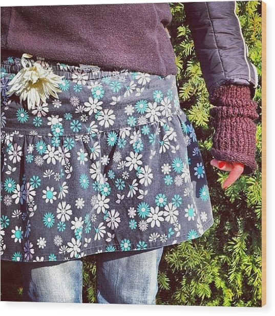 Fashion And Nature - Floral Skirt Wood Print