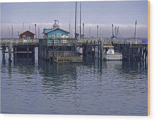 Fishermans Warf Monterey Wood Print