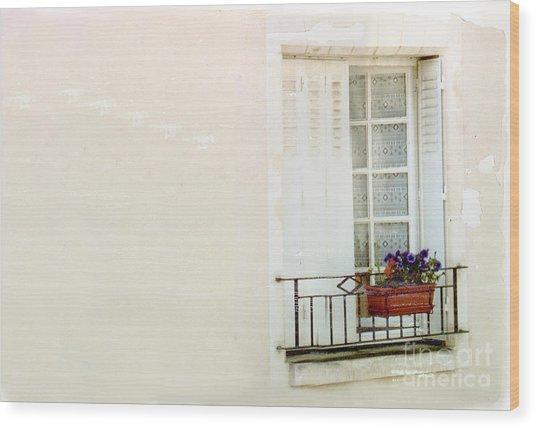 Flower Box Wood Print