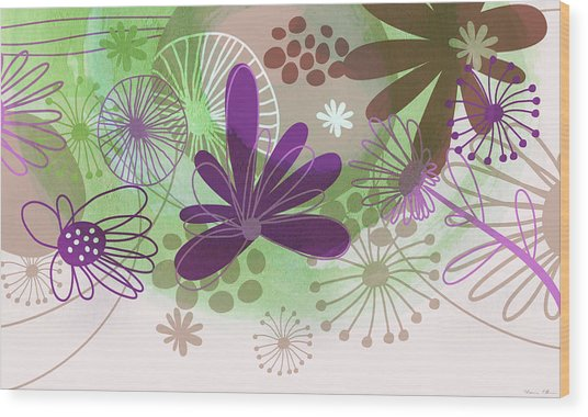Flowers Of Nature Wood Print by Nomi Elboim
