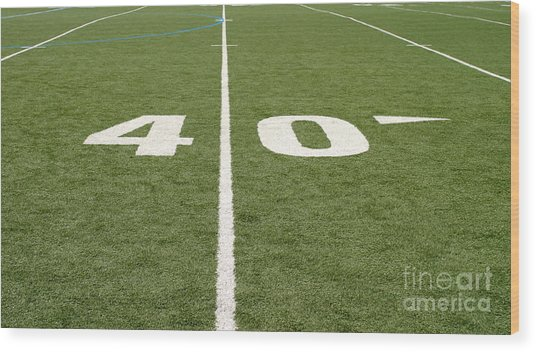 Football Field Forty Wood Print