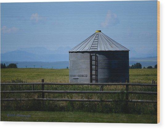 Foothills Farm Wood Print