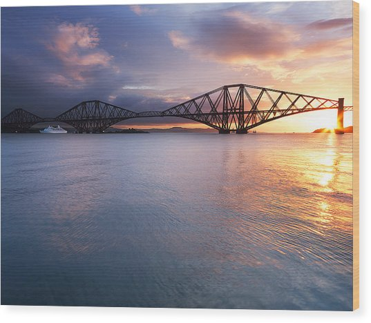 Forth Sunrise Wood Print by Keith Thorburn LRPS AFIAP CPAGB