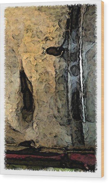 Fossilties Wood Print by Brenda Leedy