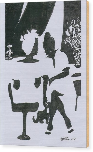 Friends Wood Print by Rhetta Hughes