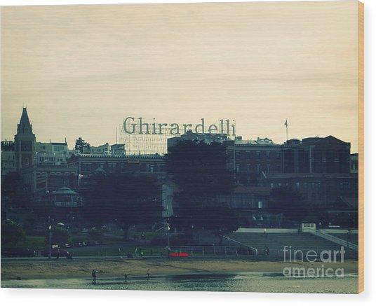 Ghirardelli Square Wood Print